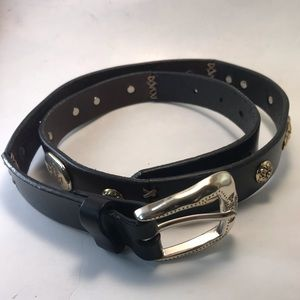 Brighton black leather belt large 34